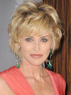 sharon stone hairstyles | Sharon Stone Hairstyles | April 24, 2009 | DailyMakeover.com