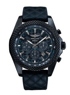 The new Breitling Bentley GT Dark Sapphire Edition watch with images, price, background, specs, & our expert analysis. Breitling Superocean Heritage, Breitling Navitimer, Breitling Watches, Army Watches, Sport Watches, Cool Watches, Nixon Watches, Rolex Datejust, Breitling Bentley
