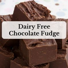 Have you given up dairy? Do you miss chocolate? Try this amazing dairy free chocolate fudge recipe. You only need two ingredients and a few minutes. Dairy Free Fudge, Dairy Free Cookies, Dairy Free Eggs, Dairy Free Chocolate, Dairy Free Recipes, Vegan Chocolate, Gluten Free, Egg Free, Vegan Recipes