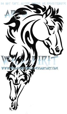 Tattoos on Pinterest | Horse Tattoos, Indian Horses and Shoe Tattoos