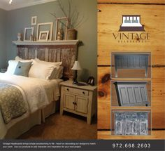 Vintage Headboards makes the best headboards from old doors and new doors!