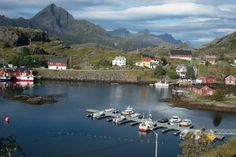 Photographic Print: View of Sund Harbour, Lofoten Islands, Nordland, Norway, Scandinavia, Europe by Ethel Davies : 36x24in
