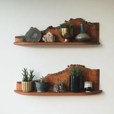 mid century live edge shelves by Aniky