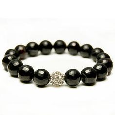 Black Sardonyx Pave Bracelet from Threads. Made locally in Los Angeles.