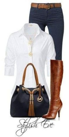 My classic favorite !!! Must haves for your closet....white denim tan ♥✤ | KeepSmiling | BeStayClassy by AislingH