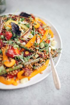 Wheat Berry Salad | This vegetarian and vegan Spring Wheat Berry Salad ...