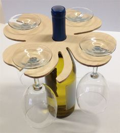 Wine glass caddy. Wine bottle decoration. Wine by DWRogersSales, $9.00