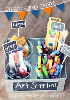 Start some great organization in your classroom this year with this quick and easy DIY project! It will make cleanup a cinch and your student's supplies will be super easy to find next time!