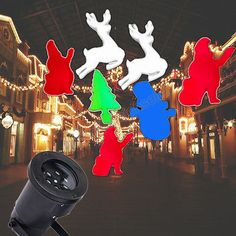 Santa claus reindeer #moving #action led #laser projector lamp xmas outdoor light,  View more on the LINK: http://www.zeppy.io/product/gb/2/112089095060/