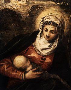 TINTORETTO - Fuga in Egitto, dettaglio - 1582 - Scuola Grande di San Rocco, Venice