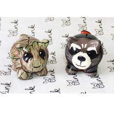 Little Kitty, My Little Pony, Rocket Raccoon, Pig Bank, Penny Bank, Pretty Art, Flower Pots, Diy And Crafts, Clay