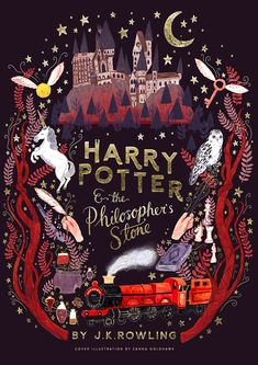 Beautiful cover By Zanna Goldhawk Illustration - stunning cover for Harry Potter and the Philosophers Stone, JK Rowling.