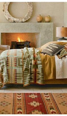 Harding Blanket Collection, Thyme color. | Pendleton Woolen Mills