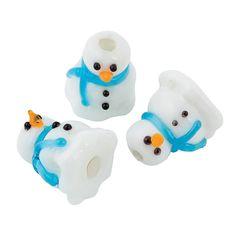 Melty Snowman Lampwork Beads - 14mm - OrientalTrading.com #OrientalTrading.com #ChristmasWishList