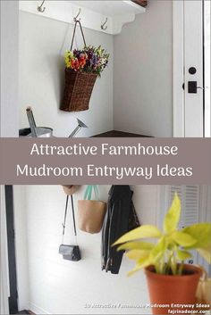 ✓ 10 Attractive Farmhouse Mudroom Entryway Ideas - Even a shallow house, just like the one pictured right here, can perform as a mudroom with inventive storage design. Small Mudroom Ideas, Entryway Ideas, Ikea Mud Room, Small Entryways, Storage Design, Inventions, Farmhouse, Shallow, Decor