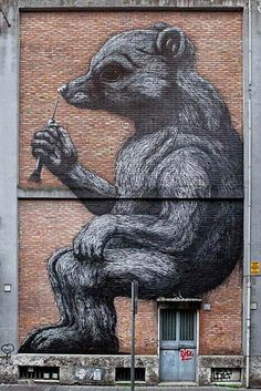 Rome, Italy by ROA (Photo by BlindEyeFactory) | summer street art