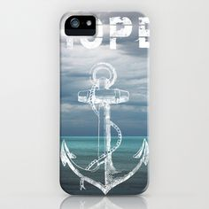 Hope Anchor iPhone & iPod Case by Ryan Johnson - $35.00