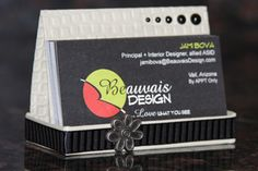 Business Card Holder! How cute is this! I'm going to give it a go this week