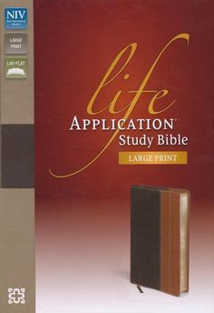 """[""""The <i>NIV Life Application Study Bible<\/i> was created for anyone wanting to \r\nanswer the question, \""""What does God\u2019s Word mean for my life today?\"""" This\r\nlarge print edition is full of features that will help you understand the timeless lessons of the Bible, as well as help apply them into your daily life, including over 10,000 application notes, character sketches, charts, time lines and more. <br><br>This Bible is a rich resource to help you live \r\nyour faith in practical…"""
