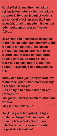 Dobrou noc, miláčku... Good Jokes, Funny Moments, Best Quotes, Lol, Memes, Retro, Pictures, Best Quotes Ever, Meme