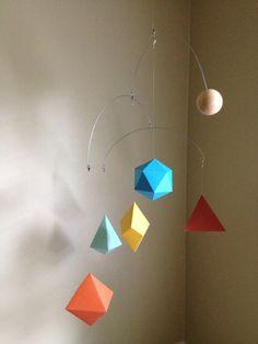 Geometric Paper Mobile  Retro color scheme by HelloBonjourDecor, $32.00
