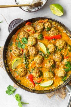 Paleo Recipes, Indian Food Recipes, Asian Recipes, Cooking Recipes, Indonesian Recipes, Orange Recipes, Kitchen Recipes, Cooking Tips, Baked Chicken Meatballs