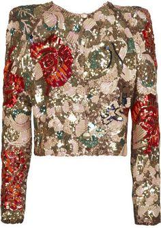ShopStyle: Stella McCartney Sequined silk-organza jacket