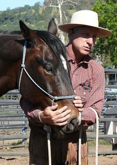 """Most people think of a feel as when you touch something or someone and what it feels like to your fingers but, a feel can have a thousand different definitions. Sometimes feel is a mental thing. Sometimes feel can happen clear 'cross the arena. Sort of an invitation from the horse to come to you.""  - Buck Brannaman"