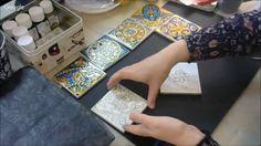 Роспись керамической плитки витражными красками: видео урок Александры К...