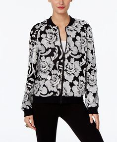 INC International Concepts Embroidered Bomber Jacket, Only at Macy's - Jackets - Women - Macy's