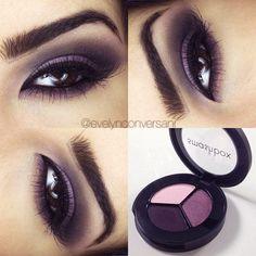 Tutorial – maquiagem com olho esfumado roxo