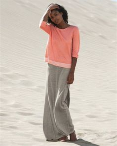 Poetry - Panelled jersey skirt - In five versatile colours this panelled skirt has a fit-and-flare silhouette that swishes as you move. In our heavier-weight hemp and cotton that has a lovely natural texture it has been garment washed for a soft, much-loved finish. 55% hemp 45% cotton
