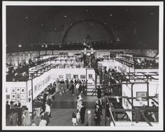 Installation view of the Armory Show 50th Anniversary exhibition, 1963 / unidentified photographer. Papers relating to the 1913 Armory Show 50th Anniversary Exhibition, Archives of American Art, Smithsonian Institution.