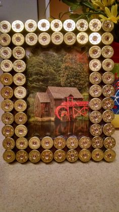 Shotgun Shell Large Picture Frame 5x7 by SouthernHomeArt on Etsy, $28.00