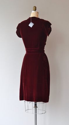 Inamourata dress vintage 1930s dress silk velvet by DearGolden