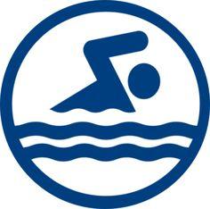 Swim Logo Icon Clip Art