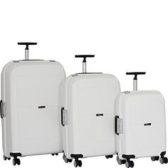 it luggage Monoguard 8 Wheel Spinner 3 Piece Set White ** For more information, visit image link.