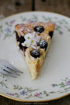Blueberry Torta della Nonna - Italian Ricotta Cheesecake