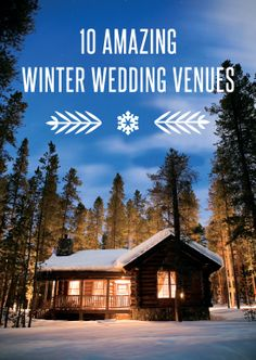 10 Amazing Winter Wedding Venues