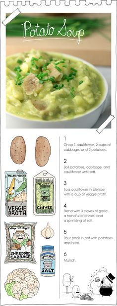 Potato Soup! 12 vegan potluck-y picnic dishes.