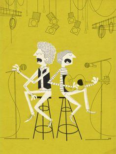 Simon & GarFunkle ; by kolbisneat.com