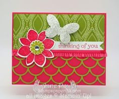 Stamps, Paper, Ink Create!: Striped Scallop Thinlit meets Butterfly Basics