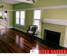 Gorgeous living room and fireplace on this bungalow in Old Northeast.  #listwithkyle #realestate #hometour #decor #decorating #design #homes #home #homeforsale #interiordesign #homesforsale #remodel #interior #stpete #porch #craftsman #bungalow #oldnortheast #oldtimey #woodframe #homewithcharacter #fireplace #woodfloor