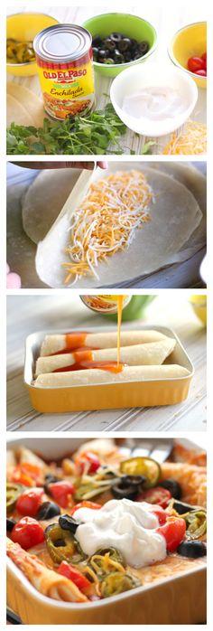 #HowTo: Easy Cheese Enchiladas