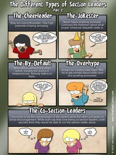 Different Types of Section Leaders Part 2- Marching Band Humor xD #Tone Deaf Comics