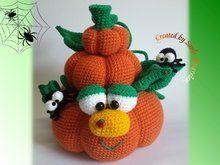 Häkelanleitung Pumpkin, Dekoidee Herbst und Halloween