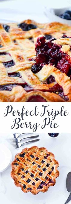 This Perfect Triple Berry Pie is the hero we need. It will actually give you chills. I'm not joking, this pie really is pure perfection. (Hence the name.)