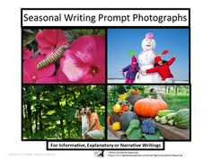 Do your learners find it difficult to think of ideas for writing assignments? Every Season Writing Prompt Photographs: Informative, Explanatory or Narrative mega bundle includes 76 inspirational photographs of each of the four seasons and events with key words, link to writing rubric and optional directions.