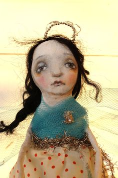 art doll angel fairy polka dot princess christmas by fadedwest,
