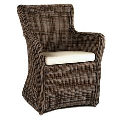 Kingsley Bate Sag Harbor Wicker Dining Arm Chair - Hand-crafted from the finest all-weather materials, our Sag Harbor Dining Arm Chair is a beautiful addition to any natural setting. Woven Dining Chairs, Teak Dining Table, Wicker Chairs, Square Dining Tables, Outdoor Dining Chairs, Dining Arm Chair, Wicker Furniture, Outdoor Furniture, Outdoor Decor